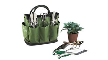 Picnic at Ascot Garden Tote and Tools Set