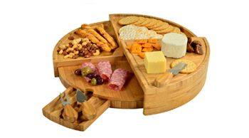 Multi Level Bamboo Board with 3 Cheese Tools